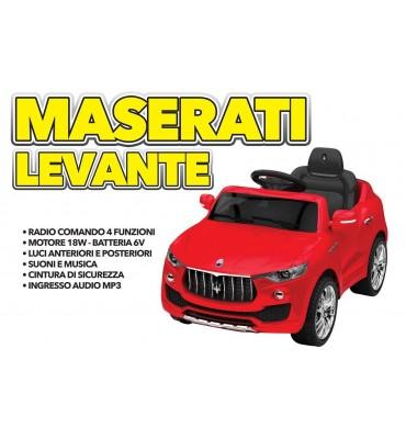 Auto Elettrica Maserati Levante 6V Rossa