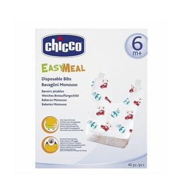 Bavaglini Monouso Easy Meal 40 pz Chicco
