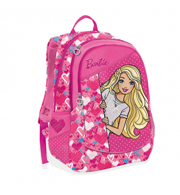 Zaino Barbie 3 Cerniera + Gadget - Gut Distribution