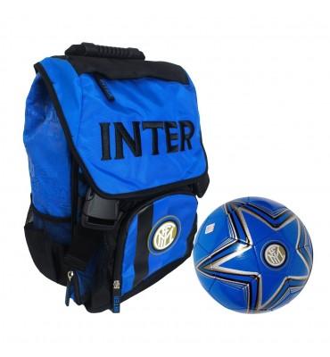 Zaino Estensibile Inter Con Pallone Cuoio - Panini 58135