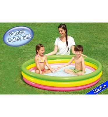 Piscina per Bambini 3 anelli gonfiabili- Bestway 51103